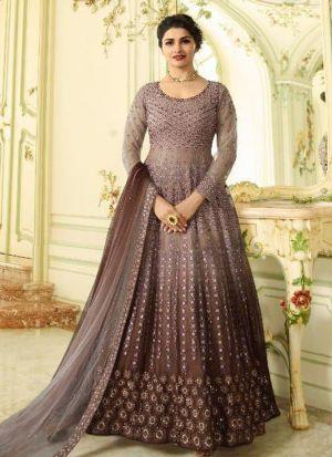 Brown Heavy Net Eid Collection Salwar Suit