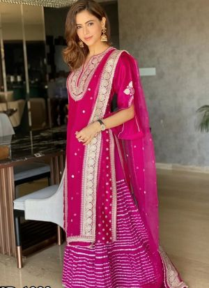 Cherishing New Launch Aamna Sharif Magenta Pink Salwar Suit