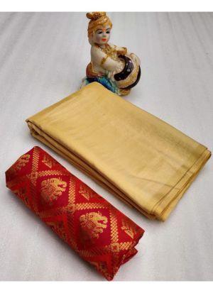 Chiku Color Raksha Bandhan Special Sarees Collection