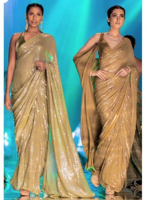 Chiku New Launching Bamberg Georgette Bollywood Celebrity Saree