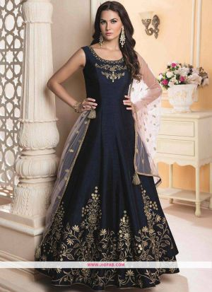 Designer Latest New Arrival Traditional Navy Gown