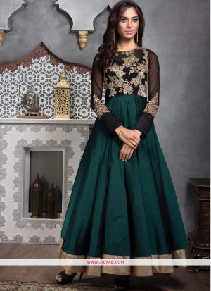 Designer Latest New Arrival Traditional Teal Green Gown