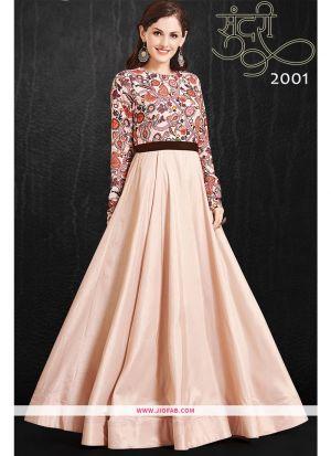 Designer Partywear Misty Rose Maslin Gown