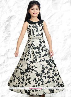 Diwali Collections Of Modern Western Dresses For Girl Kids In White And Black