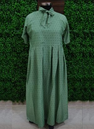 Everyday Wear Causal Sea Green Heavy Crepe Kurti For Women