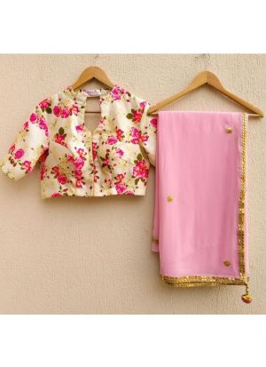 Exclusive Baby Pink Designer Party Wear Saree With Designer Blouse