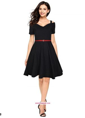 Exclusive Designer Black Short Dress