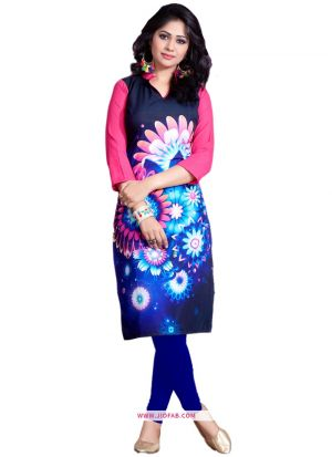 Exclusive Designer Premium Quality Multi Color Crepe Digital Printed Kurti