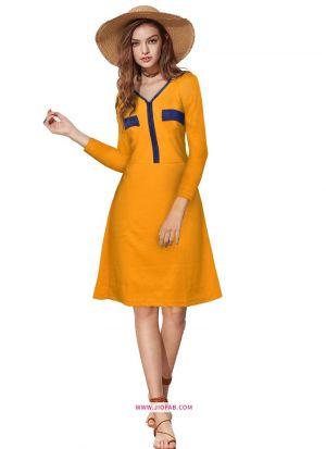 Exclusive Designer Yellow Short Dress