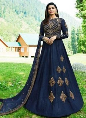Fancy Summer Designer Navy Georgette Salwar Suit