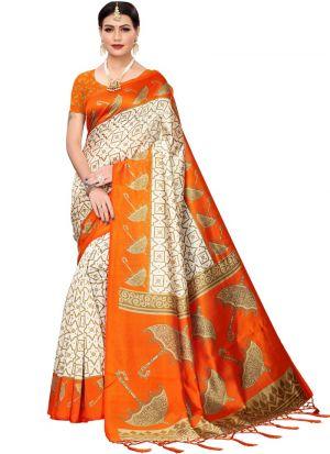 Fanta Art Silk Indian Saree