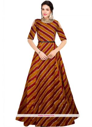 G 68 Prince Maroon New Designer Western Gowns For Women