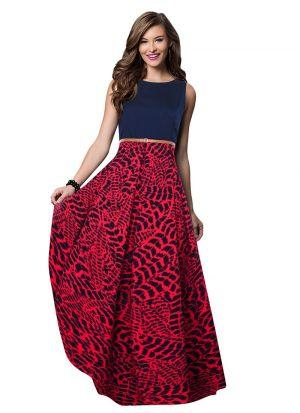 Gajari Women And Girls Sleevless Western Gown