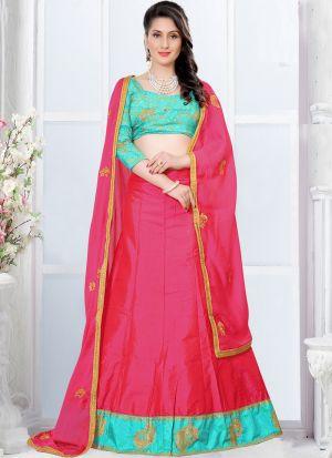 Gajari Zari Work Sana Silk Designer Lehenga Choli