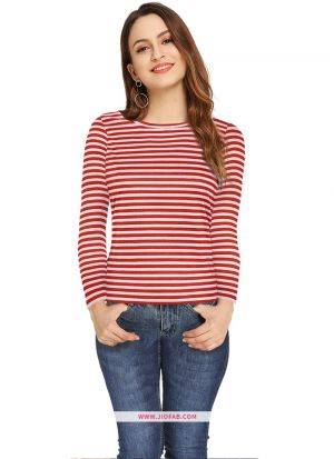 Girls Latest Trendy High Quality Fashionable Tipsy Red Top