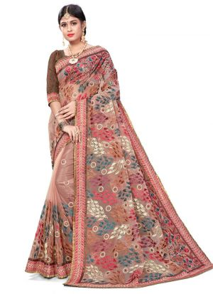 Gorgeous Orchid Bemberg Saree With Blouse