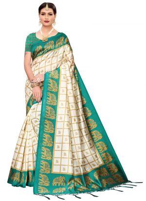 Green Art Silk Traditional Designer Sarees