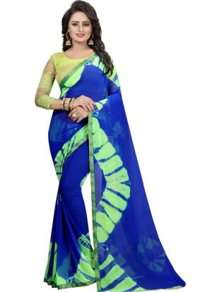 Green Color Chiffon Daily Use Saree