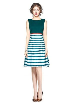 Green Color Midi Dresses