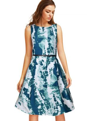 Green Short Midi Dress