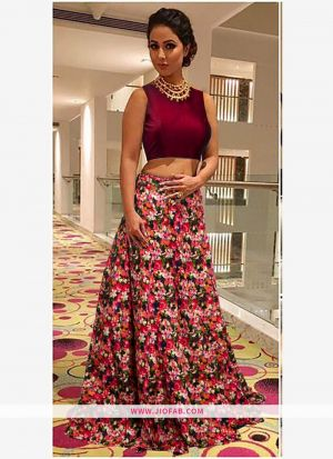 Heavy Bangalory Silk Red Designer Lehenga