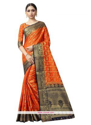 Highly Demanded Yellow Naylon Weaving Designer Saree