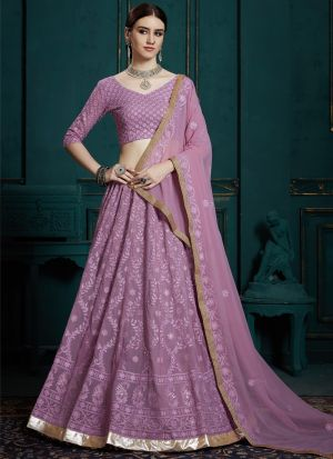 Indian Traditional Lavender Designer Lehenga Choli