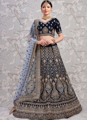 Indian Traditional Navy Color Designer Lehenga Choli