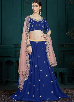 Indian Traditional Navy Designer Lehenga Choli