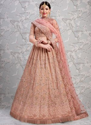 Indian Traditional Rose Taupe Designer Lehenga Choli