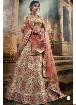 Jute White Art Silk Designer New Arrival Lehenga Choli