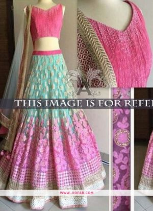 KT 2023 Light Pink Pista Party Multy Work Wedding Lehenga Choli