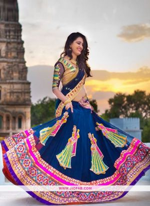 KT 2047 Blue Bridal Cocktail Gorgette Designer Lehenga Choli