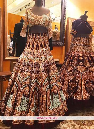 KT 2074 Bangalore Silk Sequnce Work Multi Color Cocktail Boutique Lehenga Choli