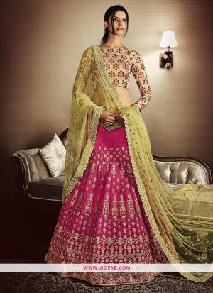 KT 2079 Pink Party Multy Work Wedding Lehenga Choli