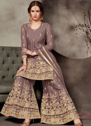 Latest Collection Brown Designer Sharara Suit