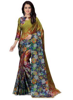 Latest Collection Multi Color Festive Special Saree