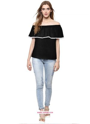 Latest Fashion Tipsy Black Color T Shirt For Girl