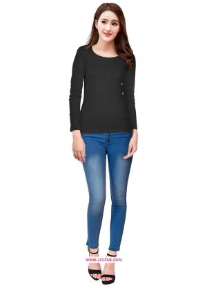 Latest Fashion Tipsy Black T Shirt For Girl