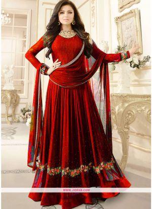 LT Nitya 1906 Red Foux Georgette Latest Designer Anarkali Salwar Suit