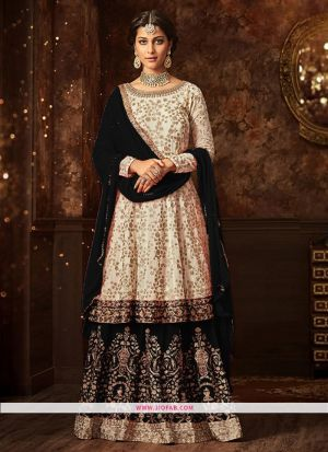 Maisha 5807 Black Georgette Embroidered Wedding Salwar Suit