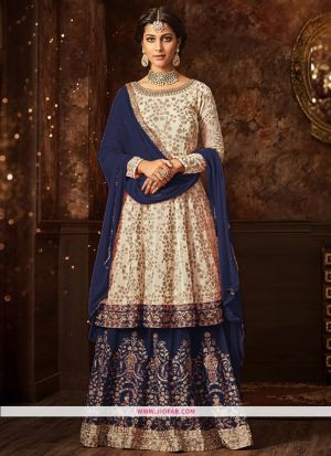 Maisha 5807 Blue Georgette Embroidered Designer Salwar Suit