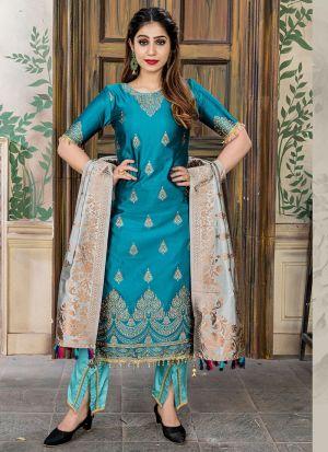Morpich Banarasi Jacquard Pakistani Salwar Suit