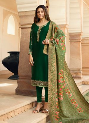 Most Demanded Bridesmaids Wear Green Churidar Suit