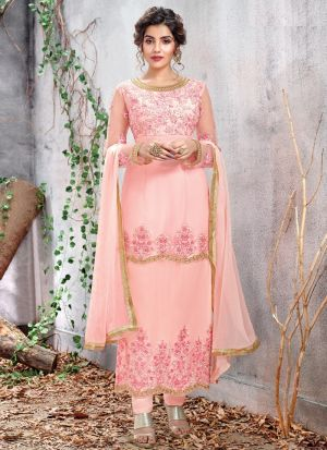Most Demanded Pink Straight Cut Suit For Ceremony