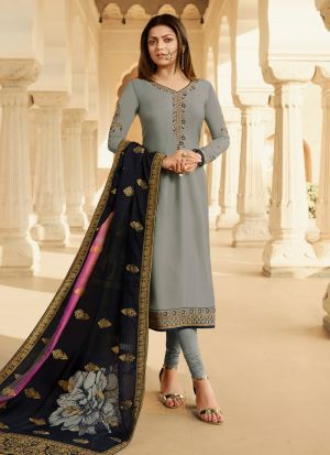 Most Popular Grey Churidar Suit For Bridesmaids