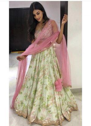 Multi Color Banarasi Satin Latest Hit Design Lehenga Choli
