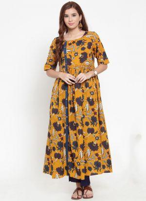 Multi Color Cambrick Latest Designer Kurti Collection