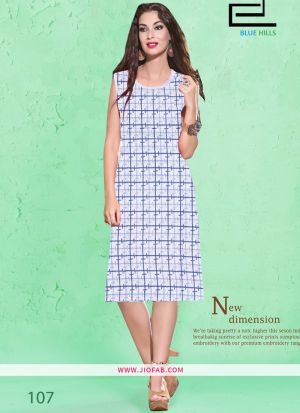 Multi Color Cotton Fabric Stitched Summer Kurti Collection