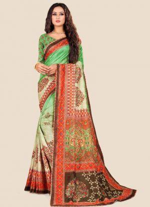 Multi Color Traditional Katki Silk Saree